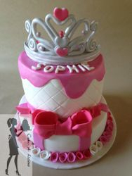 Two tiered princess themed cake
